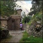 Ollantaytambo Path with Woman © Twyatt 2014